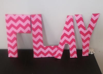 Fabric-Wrapped Foam Letters