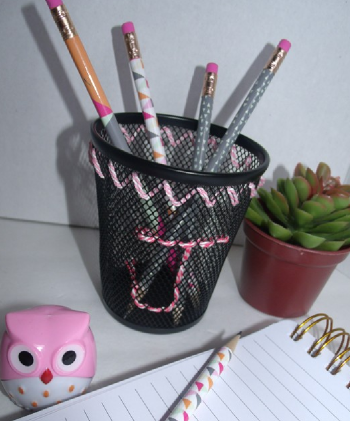 Embroidered Pencil Cup