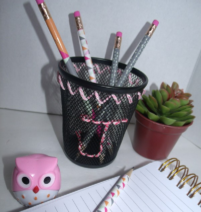 Embroidered Pencil Cup | Fun Family Crafts