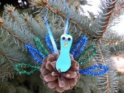 Pinecone Peacock Ornament