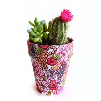 Hand-Painted Planter