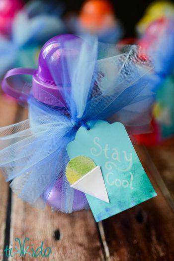 Sno-Cone Paper Embellishment