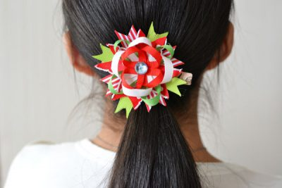 Christmas Ribbon Flower