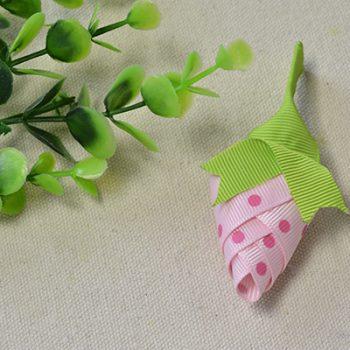 Ribbon Strawberry Brooch