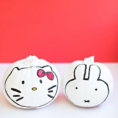 Hello Kitty and Miffy Pumpkins