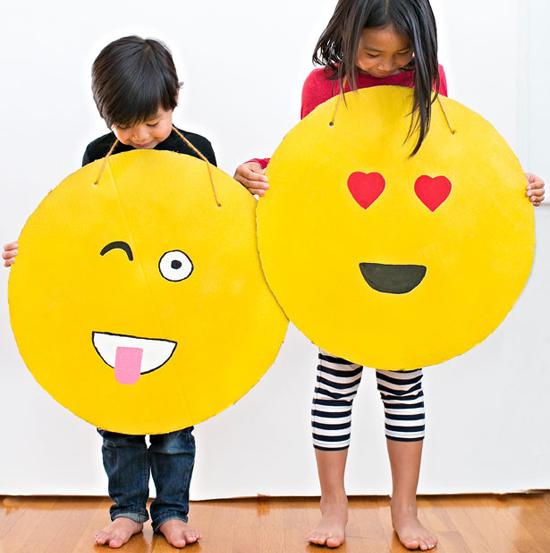 Cardboard Emoji Costumes | Fun Family Crafts