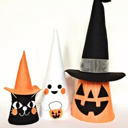 Halloween Felt Cone Friends