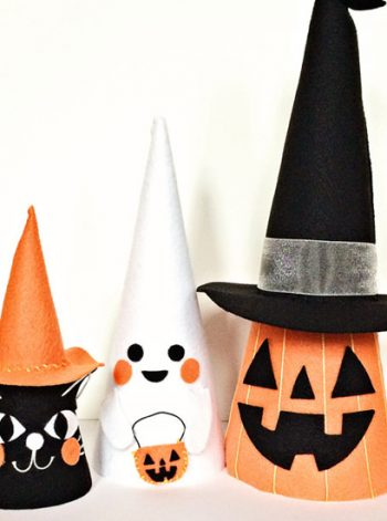 Halloween Felt Cone Friends