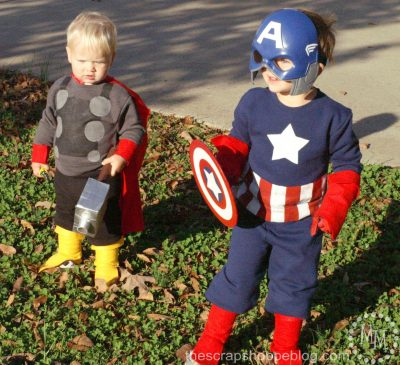 Captain America and Thor Costumes