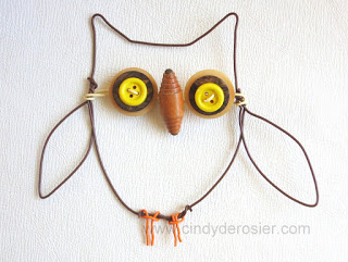 Button and Wire Owl
