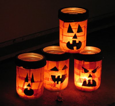 Jack O'Lantern Luminaries - a fun Halloween craft