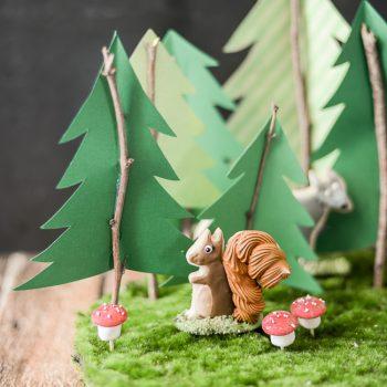 Moss Woodland Cookie Display