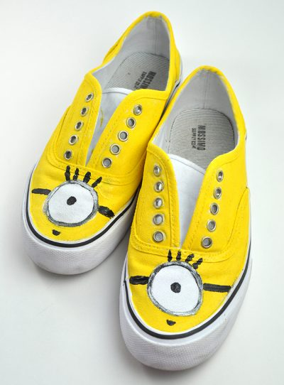 Minion Hand-Painted Shoes