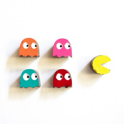 Cement Pac-Man Magnets