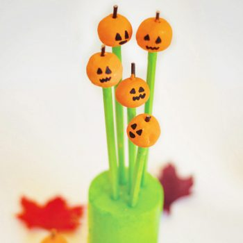 Clay Pumpkin Pencil Toppers