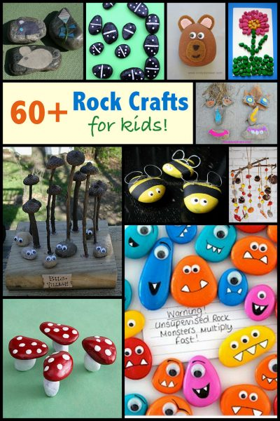 Rock Crafts for Kids: more than 60 ideas!