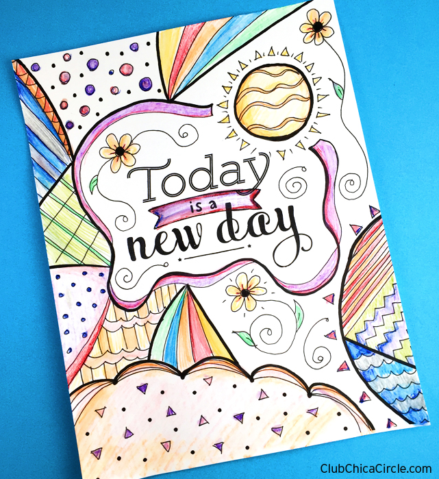 Inspirational Coloring Page