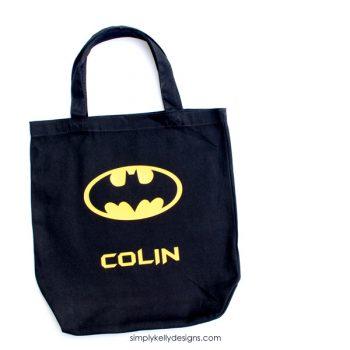 Personalized Batman Trick-Or-Treat Bag