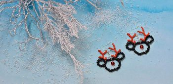 Beaded Reindeer Earrings