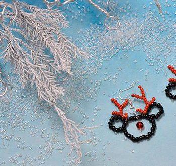 Beaded Reindeer Earrings