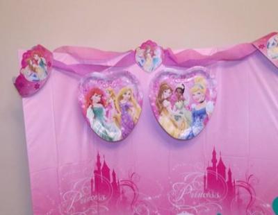Disney Princess Table Backdrop