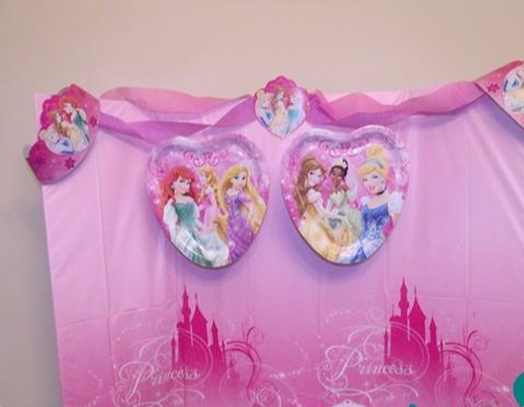 Disney Princess Table Backdrop