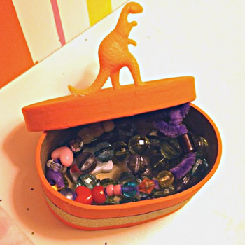 Plastic Animal Trinket Box