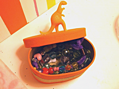 Plastic Animal Trinket Box