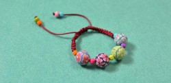 Braided Cord Bracelet with Beads