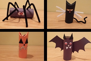 Cardboard Tube Spooky Characters