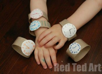 Cardboard Tube Toddler Watch