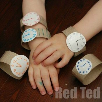 Cardboard Tube Toddler Watch
