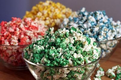 Colored Microwave Popcorn