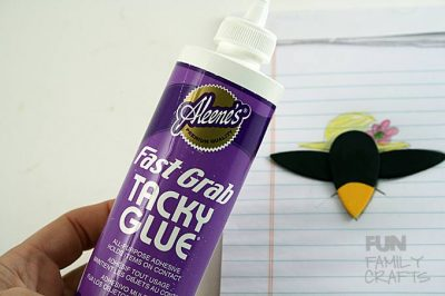 How to make an adorable crow craft! This sweet magnet is perfect for hanging papers on the fridge or makes a fun gift for a teacher, friend or parent. :)