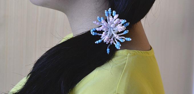 Flower Seed Bead Hair Accessory