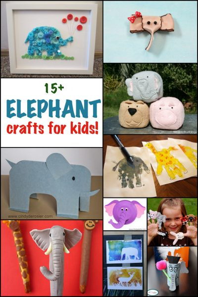 Find lots of elephant crafts for kids to make! From wall art to sewing projects and handprint crafts. Find lots of elephant crafts at Fun Family Crafts.