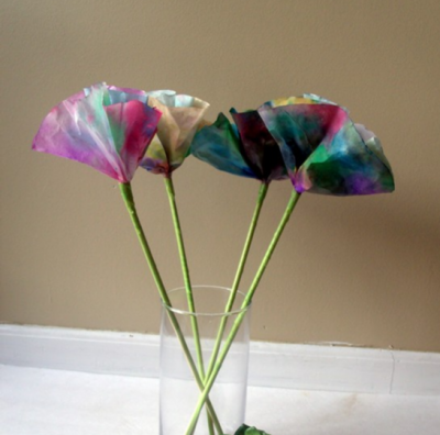 Simple Watercolor Coffee Filter Flowers