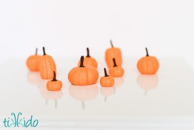 Gum Paste Pumpkin Cupcake Topper