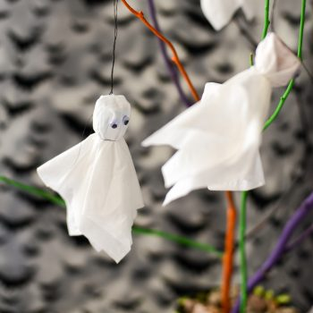 Halloween Ghost Tree Centerpiece