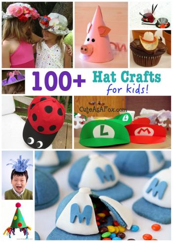 Over 100 hat crafts for kids - at Fun Family Crafts