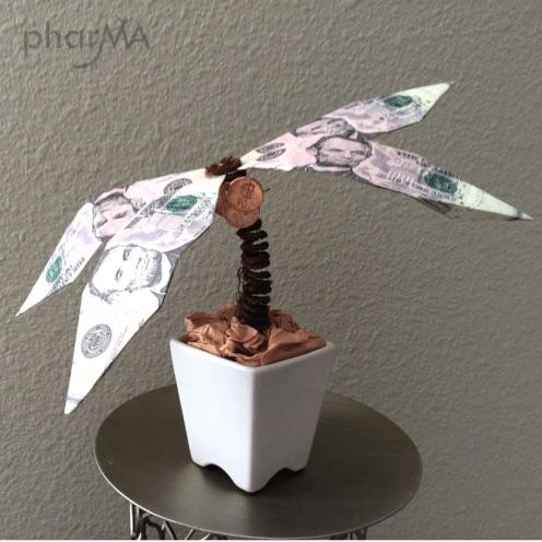 Origami Money Palm Tree