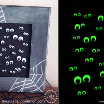 Glow-in-the-Dark Googly Eye Art
