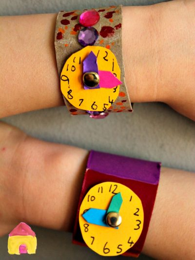 Cardboard Tube Watch Craft Fun Family Crafts