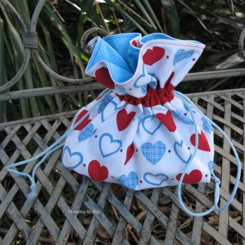 Drawstring Bag for a French Knitting Kit