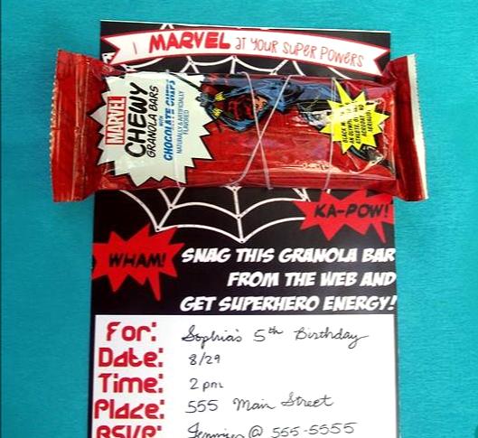 Marvel Birthday Party Invitation