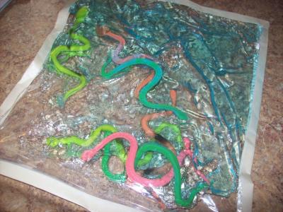 Squishy Worms Sensory Bag