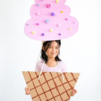 Cardboard Ice Cream Costume