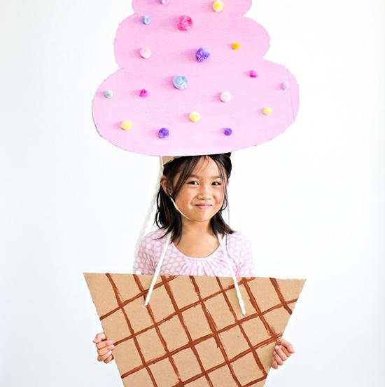 Cardboard Ice Cream Costume