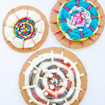 Cardboard Circle Weaving
