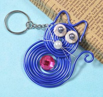 Wire-Wrapped Cat Pendant